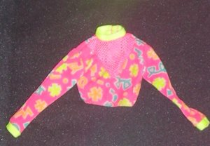 Barbie Clothes Skirt Hot Pink and Shapes Workout (barbie fashions, doll clothes, outfits)