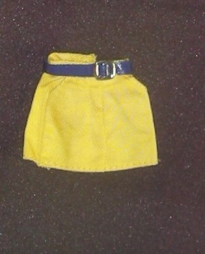 Barbie Clothes Shorts Yellow with Belt (barbie fashions, doll clothes, outfits)