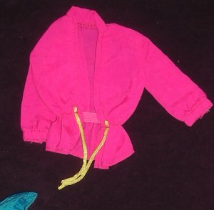Barbie Clothes Camp Barbie Jacket Pink with Yellow (barbie fashions, doll clothes, outfits)