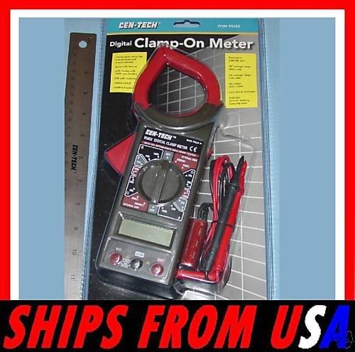 Cen Tech Digital Clamp Meter Mini : Digital clamp on style multi meter cen tech