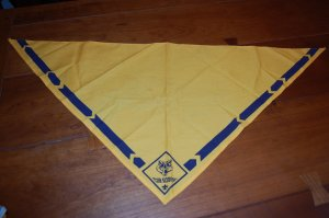 Free Shipping Wolf Cub Scout Scarf Handkerchief Neckerchief