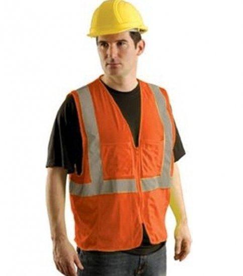 Hi Visibility Orange Mesh Vest By Majestic Size: X Lg