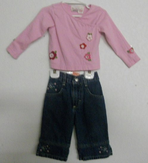 2pc Top & Jean Set By Mary Jane & Riders Sz 2T