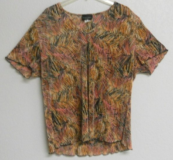 Multi-Colored Blouse By Brittany Black Sz XL NWT $34