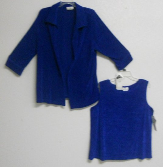 2pc Coat & Tank Set By Travel Collection Sz XL New $88