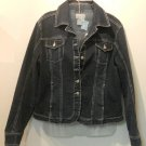 Blue Jean Denim Jacket by Liv a Little ~ Sz Lg