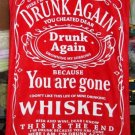 Drunk Again Whiskey 100% Cotton Beach Bath Sofa Picnic Towel