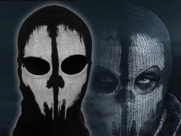 #4 Call of Duty Ghosts Mask Logan Skull Black Cosplay CS Halloween Costume Fancy Party Biker Masks