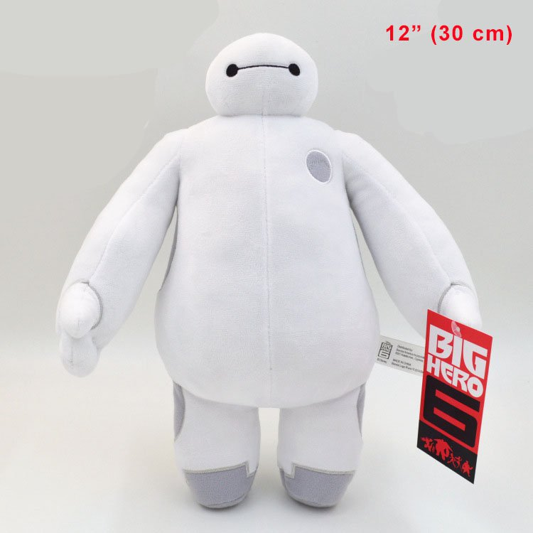 12'' Big Hero 6 Baymax White Robot Stuffed Plush Toy Doll Kids New Gift