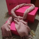 Betsey Johnson Pink Cashmere/Silk Scarf Shawl Wrap