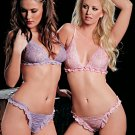 Leoni Paris French Ruffle Lace Bra & Panty Set