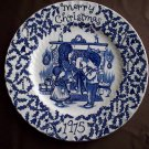 "9""  Staffordshire Plate- Merry Christmas 1975"