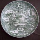 """8 1/2""""  Nebraska Great Seal Plate"""