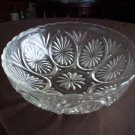 Clear Glass Bowl Thumbprint/Ray Design