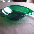 Three Pointed Green Glass Candy Dish