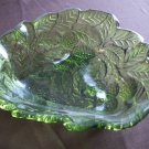 Green Indiana Glass Bowl Loganberry Design circa 1923-1933