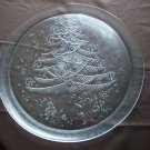 Clear Glass Christmas Platter