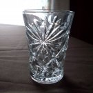 Vintage Small Clear Glass Ray Pattern Glass