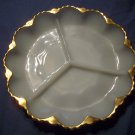 "10"" Milk Glass Relish Tray"