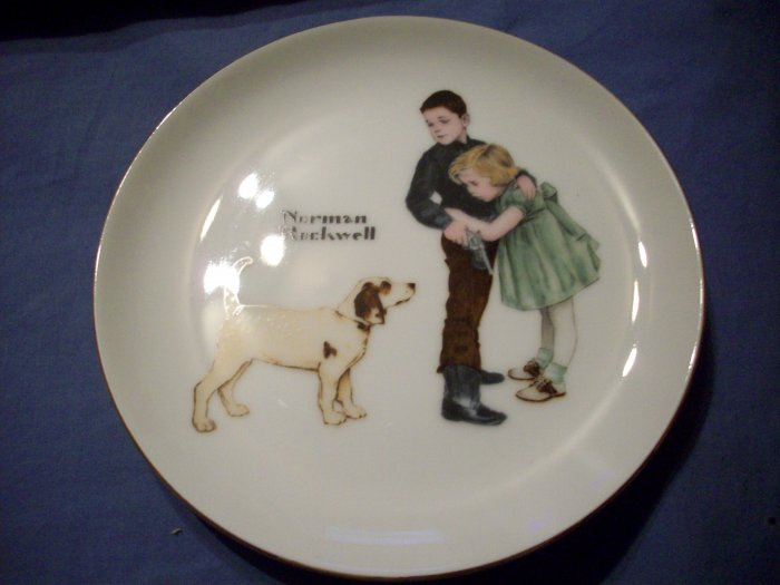 "6 1/2"" Norman Rockwell Plate  ""Big Brother"""