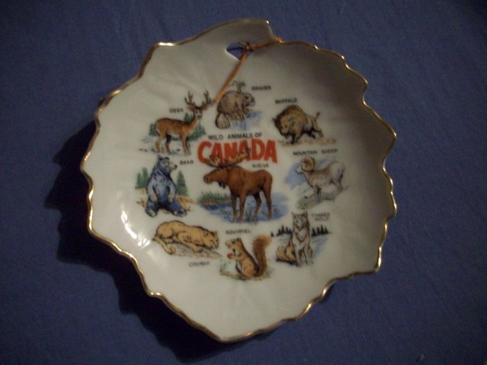 "4 3/4"" Leaf Shaped Canada Plate"