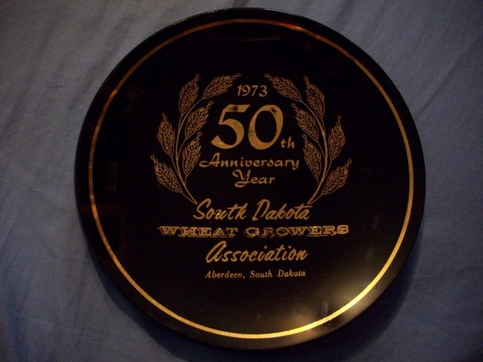 "7 1/2""  50th Anniversary  SD Wheat Growers Plate"