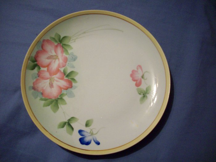 "8 3/4"" Vintage Floral Plate Japan"