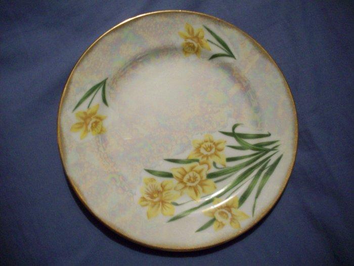 "7 3/4"" March Daffodil Plate Ucagco Ceramics"