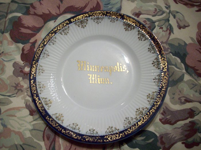"6 1/4""  Minneapolis Minn. Plate  Made in Germany"
