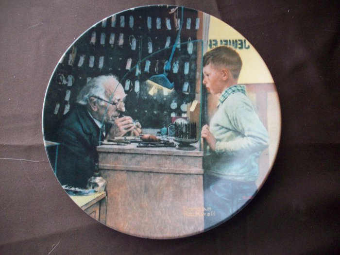 "8 1/2"" Norman Rockwell Plate ""The Jeweler"""