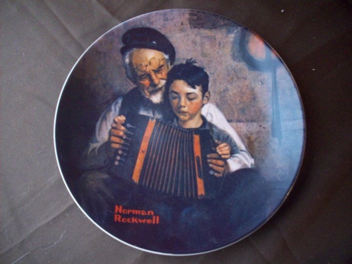 "8 1/2"" Norman Rockwell Plate  ""The Music Maker"""
