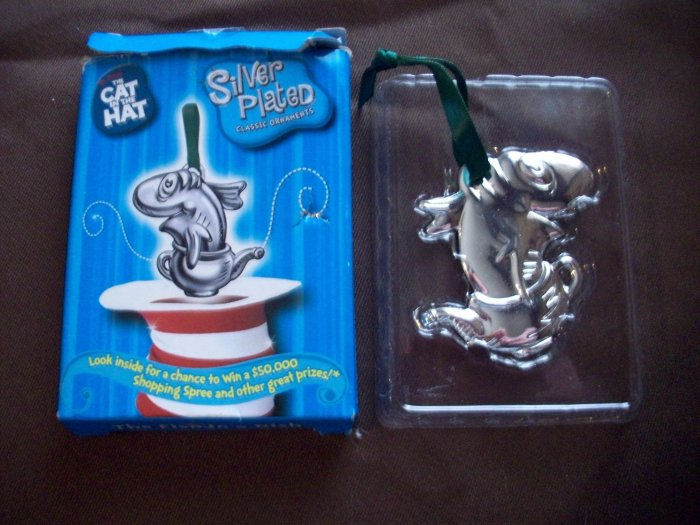 Cat in the Hat Silver Plated Ornament  The Fish in a Dish