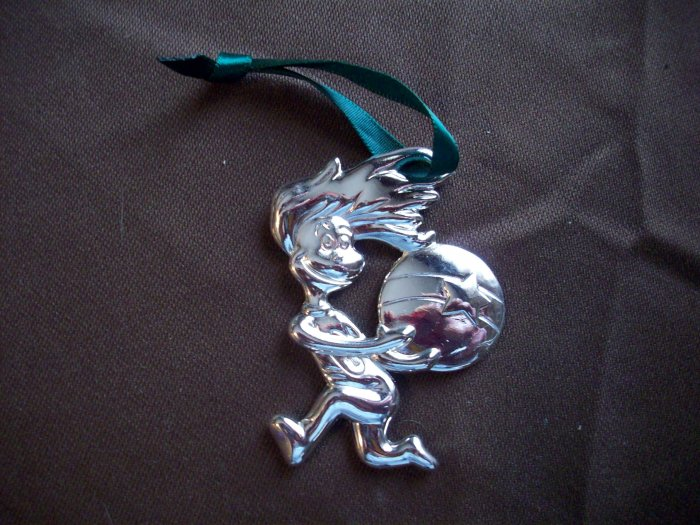 Cat in the Hat Silver Plated Ornament  Thing 1 Having a Ball
