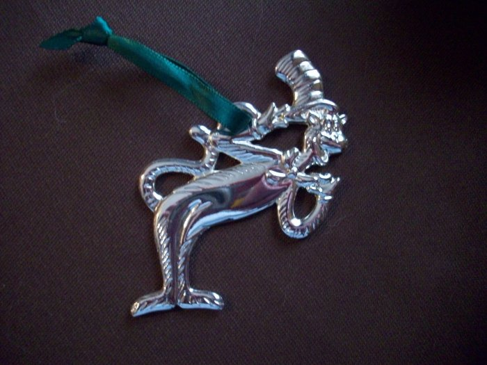 Cat in the Hat Silver Plated Ornament  The Mischievous Cat
