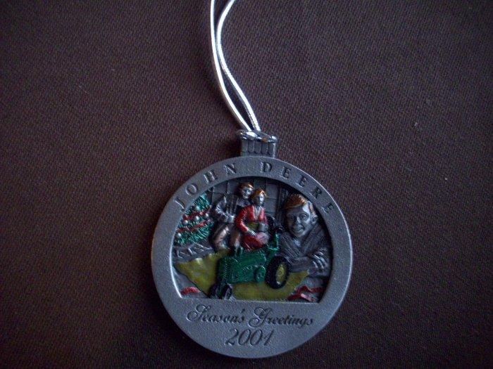2001 Pewter John Deere Ornament No. 6