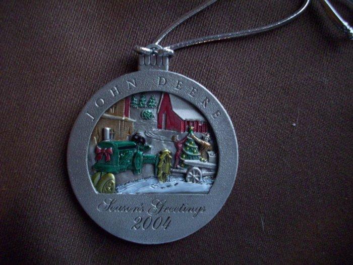 2004 Pewter John Deere Ornament No. 9