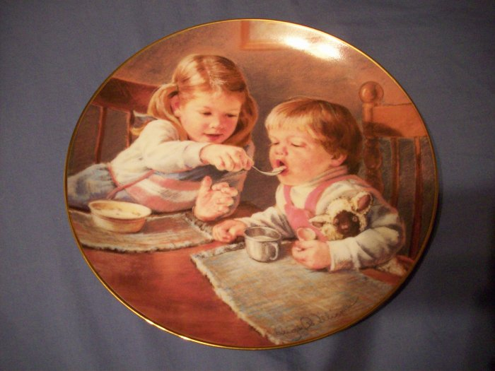 "8 1/2""  Hamilton Collection Plate   Give Us This Day"