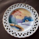 "5"" Vintage Hand Painted Japan Saucer"