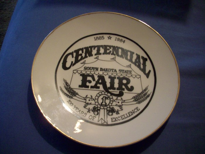 "7 1/4""  Centennial South Dakota State Fair Plate"