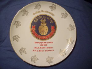 """9"""" Royal Order of Jesters Plate"""