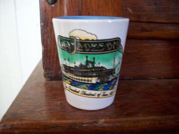 Vintage Stoneware Shot Glass  Gen. Jackson
