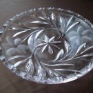 Clear Glass Dish Star and Flower Pattern