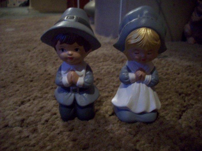 Boy and Girl Praying Pilgrims
