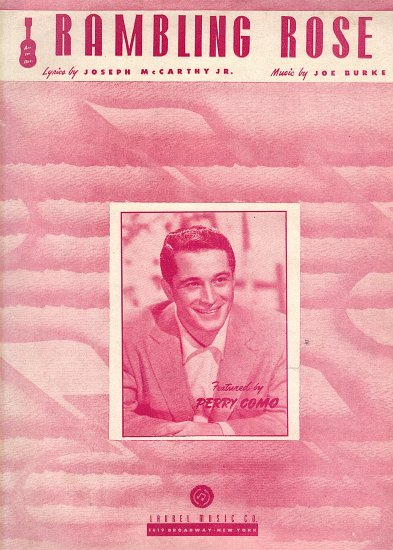 Vintage Sheet Music  Rambling Rose Featured by Perry Como