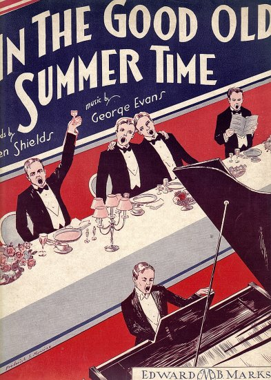 Vintage Sheet Music   In The Good Old Summer Time