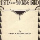 Vintage Sheet Music   Listen to the Mockingbird