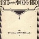 Vintage Sheet Music   Listen to the Mockingbird
