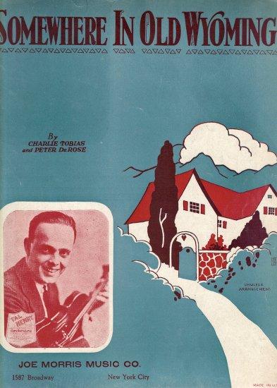 Vintage Sheet Music   Somewhere in Old Wyoming