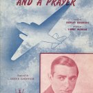 Vintage Sheet Music    Comin&#39; in on a Wing and a Prayer