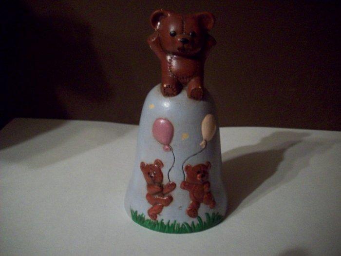 Porcelain Teddy Bear Bell